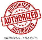 authorized. stamp | Shutterstock .eps vector #426644071