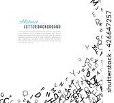 abstract black alphabet... | Shutterstock . vector #426647257