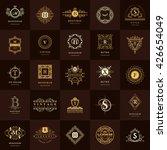 line graphics monogram. vintage ... | Shutterstock .eps vector #426654049