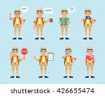 set of tourist characters... | Shutterstock .eps vector #426655474