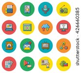icon set media vector | Shutterstock .eps vector #426660385