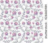 floral seamless pattern cute...   Shutterstock . vector #426660484