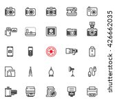 camera icons with white... | Shutterstock .eps vector #426662035