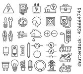 electricity icons | Shutterstock .eps vector #426664741