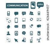communication icons  | Shutterstock .eps vector #426669457