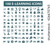 learning icons  | Shutterstock .eps vector #426670765
