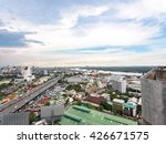 view on tower see city at... | Shutterstock . vector #426671575