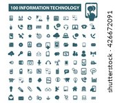 information technology icons  | Shutterstock .eps vector #426672091