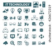 it technology icons  | Shutterstock .eps vector #426672319