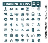 training icons  | Shutterstock .eps vector #426673381
