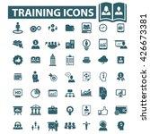 training icons  | Shutterstock .eps vector #426673381