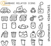garbage related icons | Shutterstock .eps vector #426673651