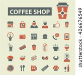 coffee icons  | Shutterstock .eps vector #426676549