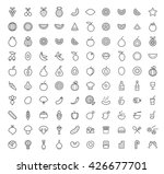 set of 100 isolated minimal... | Shutterstock .eps vector #426677701