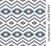 seamless pattern with ethnic... | Shutterstock .eps vector #426678469