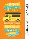 food truck festival menu food... | Shutterstock .eps vector #426678631