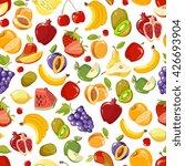 seamless vector summer juicy... | Shutterstock .eps vector #426693904