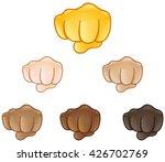 fisted hand sign emoji set of...   Shutterstock .eps vector #426702769