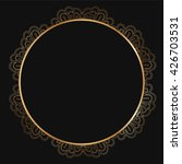 round lace border frame... | Shutterstock .eps vector #426703531