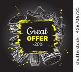 vector fast food special offer... | Shutterstock .eps vector #426706735