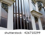 Close Up Of Modern Steel Organ...