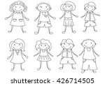 set of 8 vector shapes people.... | Shutterstock .eps vector #426714505