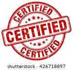 certified. stamp | Shutterstock .eps vector #426718897