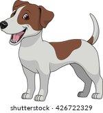 vector illustration funny dog... | Shutterstock .eps vector #426722329