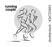 vector hand drawn fitness... | Shutterstock .eps vector #426723601