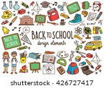 back to school doodle elements | Shutterstock .eps vector #426727417