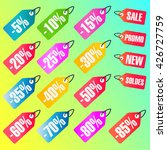 discount tags | Shutterstock .eps vector #426727759