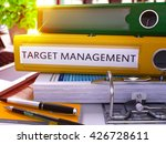 target management   yellow ring ... | Shutterstock . vector #426728611