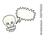 freehand drawn speech bubble... | Shutterstock .eps vector #426730231