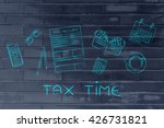 tax time  tax return forms to... | Shutterstock . vector #426731821