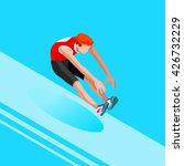 athletics long jump 2016 summer ... | Shutterstock . vector #426732229