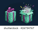 present box. open and close.... | Shutterstock .eps vector #426734767