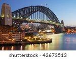 sydney harbour bridge at sunrise | Shutterstock . vector #42673513