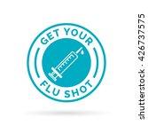 get your flu shot vaccine sign...