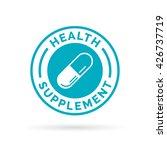 medical health supplement sign... | Shutterstock .eps vector #426737719