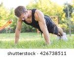 push ups   fitness man training ... | Shutterstock . vector #426738511