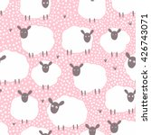 vector seamless pattern with... | Shutterstock .eps vector #426743071