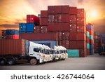 industrial container cargo... | Shutterstock . vector #426744064