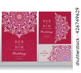 wedding invitation or card with ... | Shutterstock .eps vector #426749629