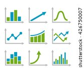 color graph chart icons set.... | Shutterstock . vector #426750007