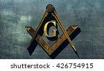 free masonic grand lodge sign... | Shutterstock . vector #426754915