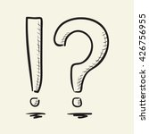 hand drawn question mark and... | Shutterstock .eps vector #426756955