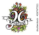 96 years with nice bouquet of... | Shutterstock .eps vector #426767311