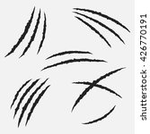 scratches by claws vector set.... | Shutterstock .eps vector #426770191