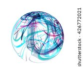 abstract blue sphere on white... | Shutterstock . vector #426772021
