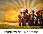 firemen using extinguisher and... | Shutterstock . vector #426776509